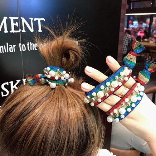 Sale Hair Accessories Square Leopord Pattern Hair Band Smiley New Style Hairband Headband for Tying Hair Rubber Band Hair Access