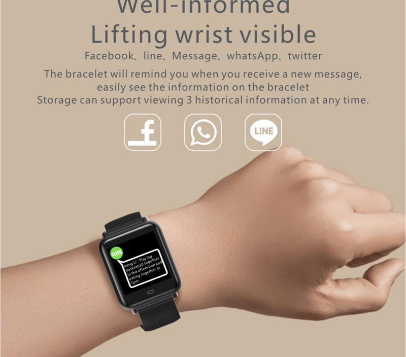 Watch Bracelet Q9 Sports Smart Health Multifunction Waterproof Bluetooth Touch Screen Smart Watch For IOS Android 4.3