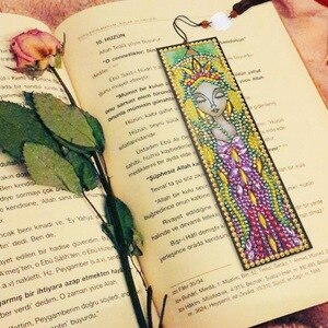 Ancient Egypt Diamond Painting Book Mark DIY Special Shaped Leather Bookmarks with Tassel Creative Handmade Craft Gifts