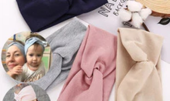 17KM 13 Color Cotton Headband For Women Girl Baby Headband 2019 Elastic Knot Headbands Twist Fashion Cross Hair Accessories