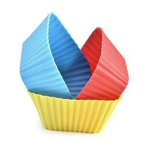 End Of The Year Silica Gel Horse Fern Cup Square Cake Cup Small Cake Mould Baking Diy Square Cake Model