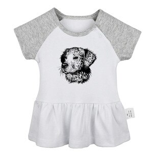 Golden Retriever dog You Are Amazing Go haro or go home Design Newborn Baby Girls Dresses Toddler Printing Infant Cotton Clothes