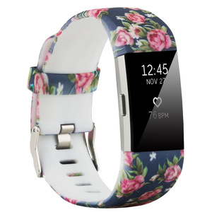 Smart Watch Bands For Fitbit Charge 2 Smart Watch Silicone Strap Rose Color Wrist Band Smart Watch Bracelet For Fitbit Charge 2