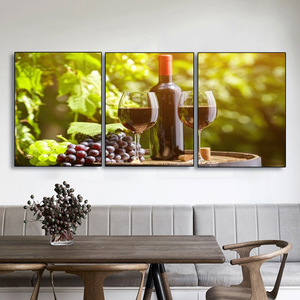 Bar Kitchen Decor 3 Pcs Canvas Painting Modern Home Room Decoration Pastoral Style Poster Wall Art Picture For Home Design