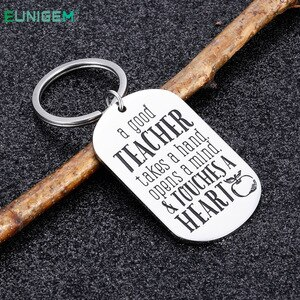 Teacher Graduation Gifts Keychain for Women Men Thank You Gifts- End of Year from Student Kids Child Birthday Keyring Pendant