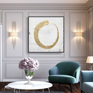 Nordic Minimalism Style Decoration Home Wall Art Pictures For Home Design Gold Canvas Painting Circle Posters and Prints