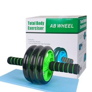 Weight Loss Abs Roller Wheel Abdominal Muscle Trainer With Mat For Fitness No Noise Ab Roller Wheel Workout Abs Training Home