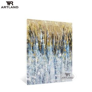 Modern home designs abstract oil painting Hand painted gold foil picture on canvas for home wall decoration living room Entrance