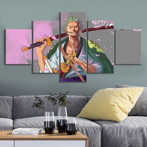 5 Piece Canvas Art Anime Pictures for Home Design Cartoon Comics Canvas Painting Room Decor Wall Prints Frameless