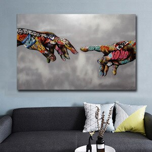 Graffiti Art Canvas Painting Street Art Hand Posters and  Prints on Canvas Wall Art Picture for Living Room Home Design Decor