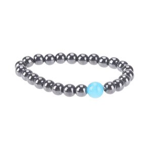 Weight Loss Round Black Stone Magnetic Therapy Bracelet Health Care Adjustable Luxury Bracelet Magnetic Slimming