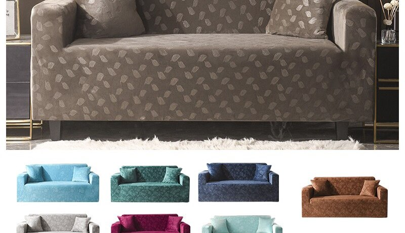 Modern Sofas for Living Room Sectional High Quality Stretchable Elastic Sofa Cover Adjustable European Style Sofa Cover L Shape