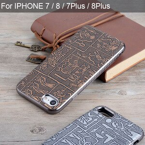 case for iphone 7 8 plus funda Maya Ancient Egypt Retro Style leather skin with Soft silicone cover phone cases for iphone 7 8