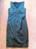 Green satin Hadley dress, Hobbs, £149