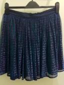 Purple shimmer skirt, Top Shop, £46