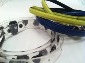 Bright (Esprit) and transparent (Top Shop) belts