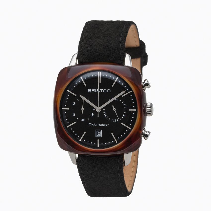 Briston, Vintage Clubmaster black chronographe