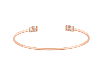 Collection Promesse by Lore. Bracelet en or rose 9 carats et oxydes de zirconium. Prix : 399€