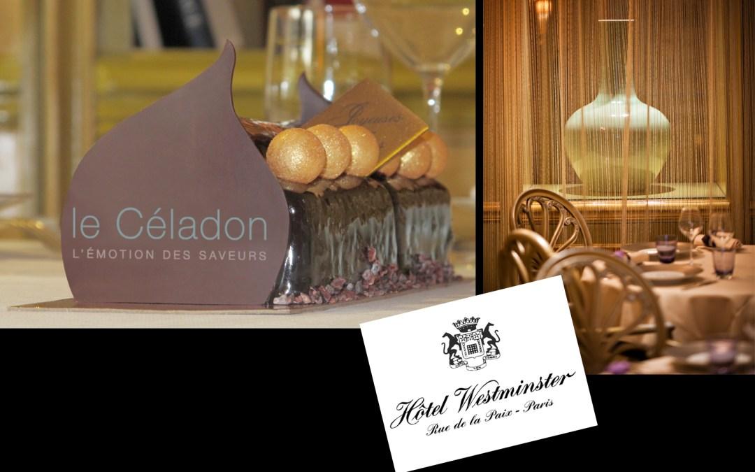 Hôtel Westminster, le restaurant Le Céladon rend un hommage inspiré aux traditions de Noël