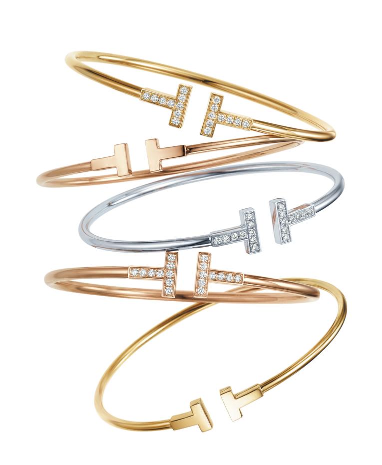 Bracelets Tiffany T Wire en or blanc, rose ou jaune avec ou sans diamants, Tiffany & Co. de 2 000 à 3 950 €