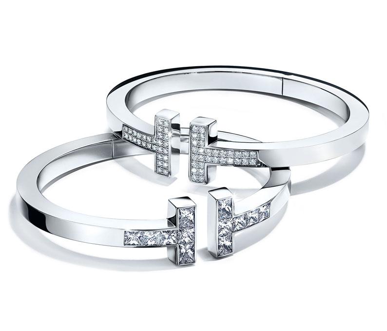 Bracelets Tiffany T Sqquare Diamants. Prix sur demande