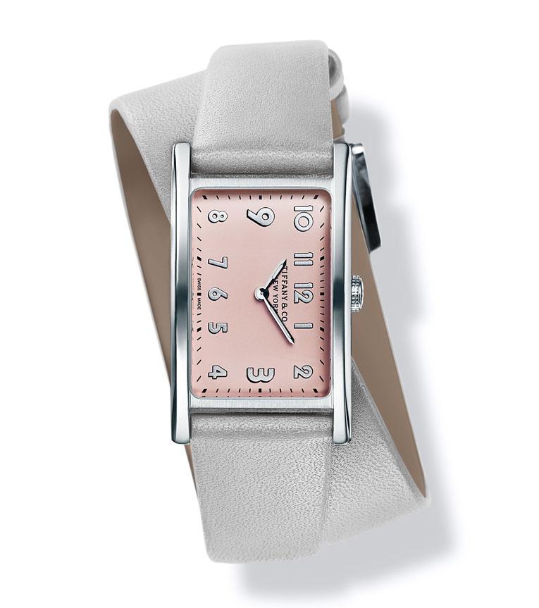 Montre Tiffany East West Mini en argent et cuir de veau, Tiffany & Co. 3 850 €