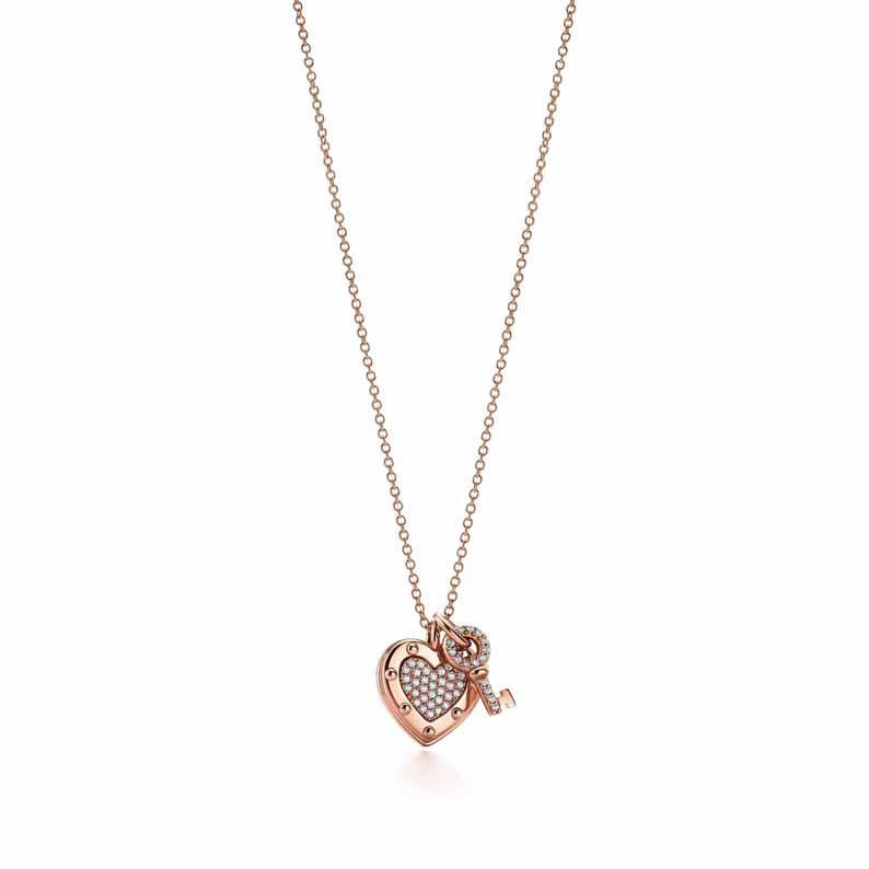 Pendentif Clé Couronne Tiffany Keys en or rose et diamants, Tiffany & Co. 2 950 €