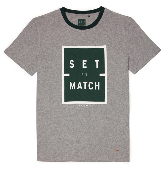 Mix and match ? Non Set & Match, t-shirt Arcy Gris.