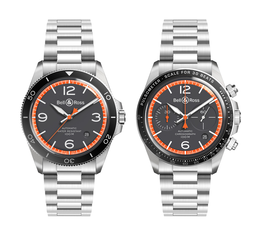 BR V2-92 GARDE-CÔTES réf. BRV292-ORA-ST/SST et chronographe BR V2-94 GARDE-CÔTES réf. BRV294-ORA-ST/SST.