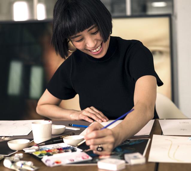 Yunjo Lee, créatrice de bijoux.