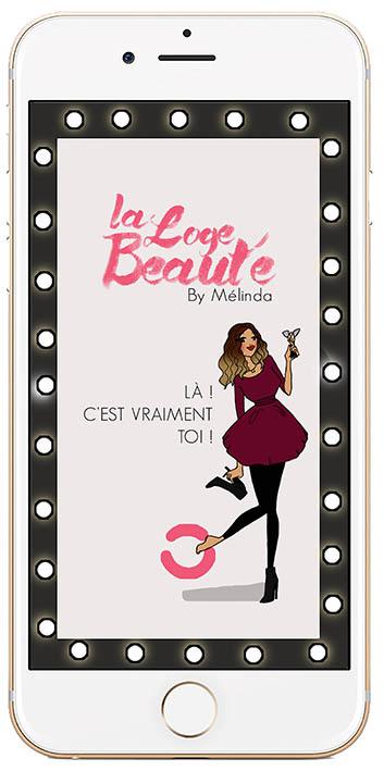 Page d'accueil de l'application LA LOGE BEAUTÉ.