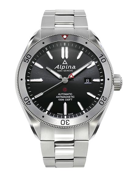 Alpina - Alpiner 4 automatique - acier cadran noir - soldat - AL-525BS5AQ6B