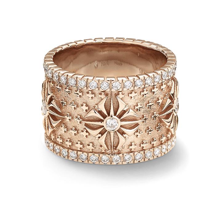 Bague en or rose et diamants « SOS Alliance RING ». Les symboles en majesté…