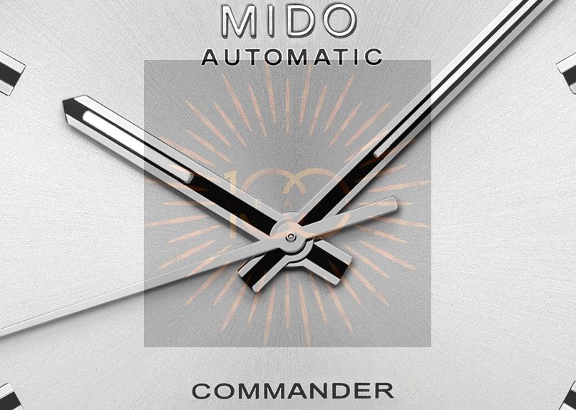 Commander Big Date 2018 : l'horloger Mido souffle ses 100 bougies