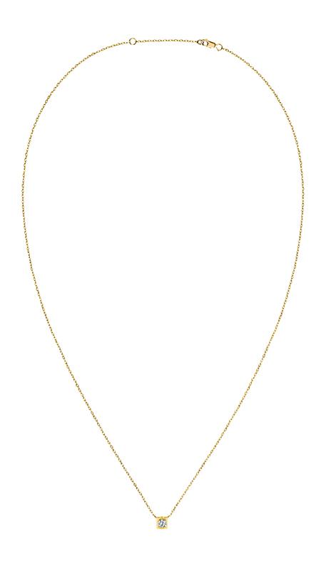 Collier dinh van Le Cube Diamant en or jaune et un diamant, 1190 €