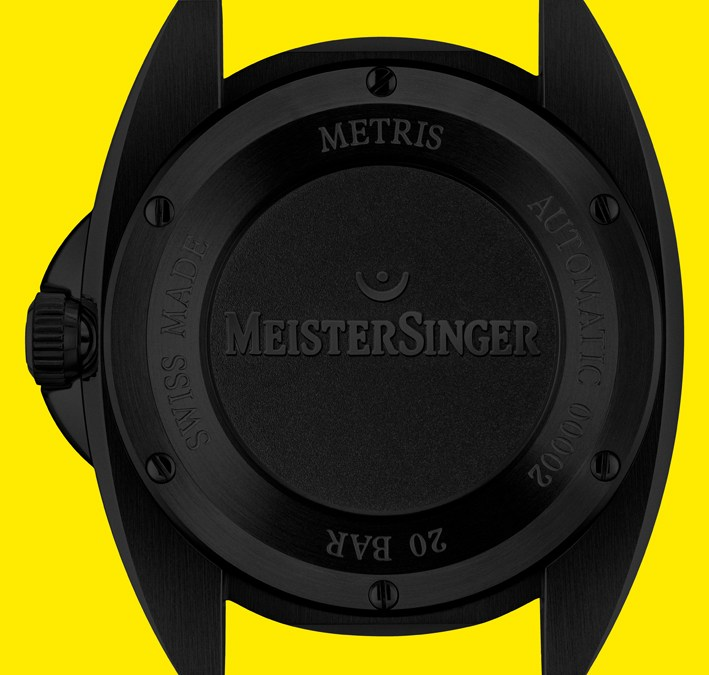 Flash horloger – Meistersinger Metris Black Mellow Yellow