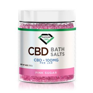 Diamond CBD Bath Salt - Pink Sugar - 100mg @ShoppingExclusives.com
