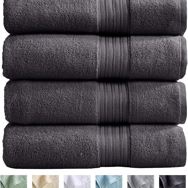 100% Cotton 4-Pack Bath Towel Set by Great Bay Home Shopping Exclusives