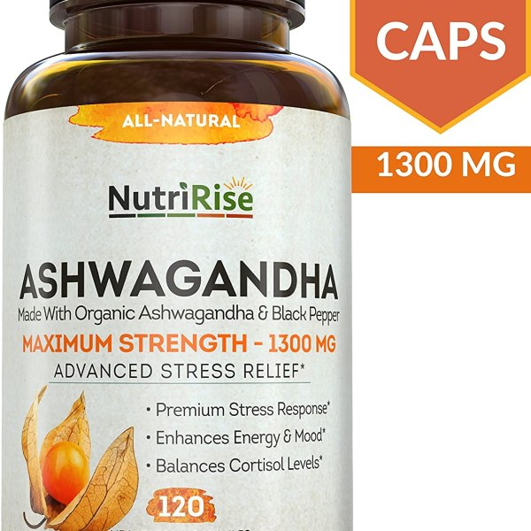 Ashwagandha 1300mg Made with Organic Ashwagandha Root Powder Shopping Exclusives