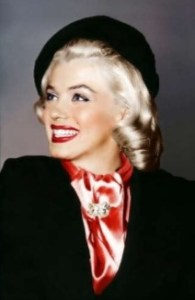 Notice the relationship between the angle of Marilyn Monroe's defined eyebrow and the jaunty tilt of her beret.