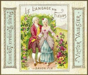An Old Perfume Label. Fragrance is Indeed the Language of Flowers. Photo via OurCottageGarden.com