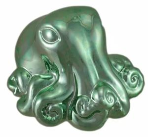 Steampunk, scuba, surfer, or sealife-fan moms might like this little Metallic Green Octopus Coin Bank to stash their doubloons. Overstock.Com