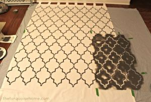 TheTurquoiseHome.Com shows how a beautiful professional result is easy to accomplish with stenciling