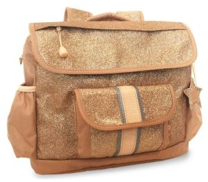The water-resistant Bixbee Sparkalicious Backpack in Gold is retro-stylish and practical for a kid. Nordstrom.com.
