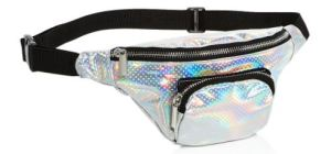 Capelli girl's metallic fannypack has a perforated holographic effect. Bloomingdales.com.