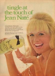 Demonstration of use. Or she intends to drink it. Not sure.... Ad from 1967 via Pinterest.