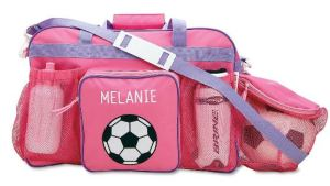 """Solve the """"how to carry the ball?"""" hassle with this clever sports bag. Not into soccer? Make a project out of covering the graphic with fabric paint, applique, or some bling. Personalize it if you want...""""ShoppingGirl"""" is exactly 12 letters.... LillianVernon.com."""