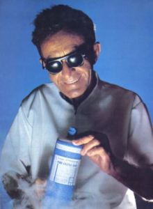 Dr. Bronner with his magic potion. Does this guy look hip or what? Photo via MotherJones.com.