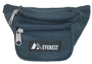 The kid-sized Everest waist pack in Navy will go well with jeans. BeltOutlet.com.