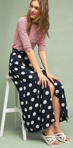 """Dining at """"That"""" amusement park? Stash this Claudette Maxi Skirt in your backpack so you don't have to run back to your hotel room to change after daring the pirates and posing for photos with your fav character. Don't forget the mouse ears. Anthropologie.com."""